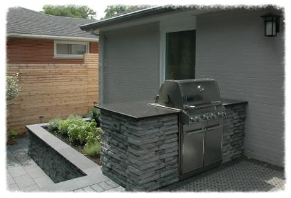 BBQ Island with granite countertop